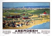 Aberdeen, The Silver City by the Sea. Vintage LMS/LNER Travel Poster by Alex McLellan